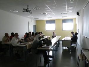Présentation d'un doctorant dans l'atelier 2